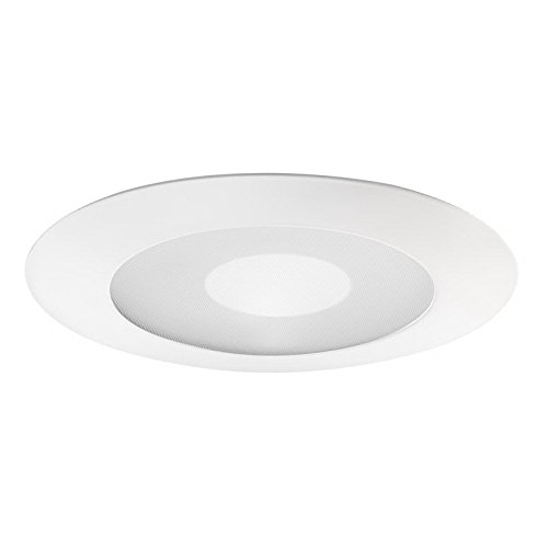 Juno Lighting 212N-WH 212N Wh Frosted Lens With Clear Center Shower Recessed Trim, White (Center Frosted)