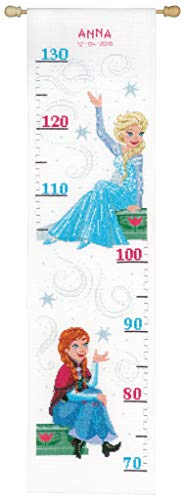 (VERACHTERT N.V. Disney's Frozen 'Sisters Forever' Height Chart Counted Cross Stitch)