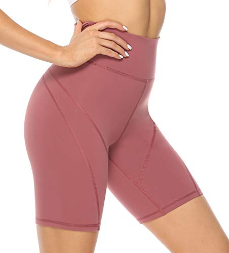 Persit Damen Kurz Sport Leggings, Yogahose Sporthose Blickdicht Hohe Taille Shorts
