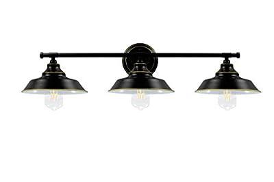 Bathroom Vanity Light 3 Light Wall Sconce Fixture Industrial Indoor Wall Mount Lamp Shade
