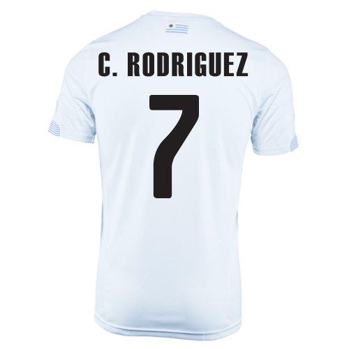 エンターテインメントマンモス不規則性PUMA C. RODRIGUEZ #7 URUGUAY AWAY JERSEY WORLD CUP 2014/サッカーユニフォーム ウルグアイ アウェイ用 ワールドカップ2014 背番号7 クリスチャン?ロドリゲス