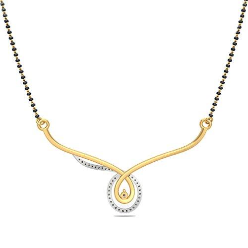 14K Or jaune 0,15CT TW White-diamond (IJ | SI) Mangalsutra