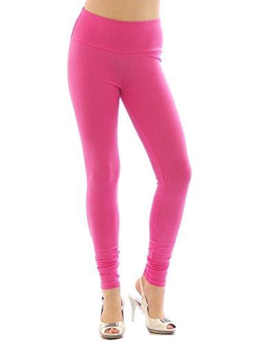 YESET Femme Leggings pantalon long leggings en coton Taille haute ROSE M