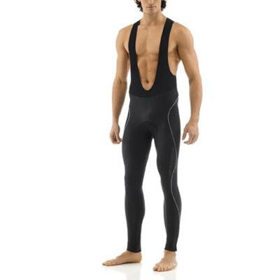 (Giordana Mens Silverline Super Roubaix Bib Cycling Tights - GI-W2-BITI-SILV (Black with reflective accents - XL))