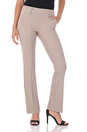 Rekucci Women's Ease in to Comfort Fit Classic Bootcut Pant w/Tummy Control -
