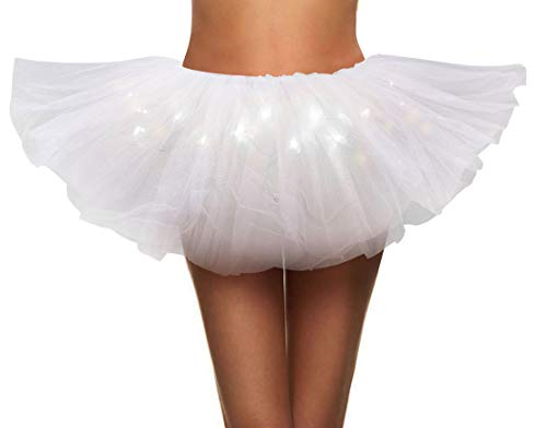 Simplicity Womens LED Light Tutu Skirt Dance Rave Tutu Skirt -