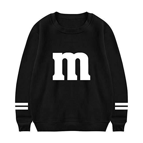 M&Ms Candy Halloween Costume Men's Fashion Sweatshirt Boys Crew Neck Hoodies Long Sleeve Casual -