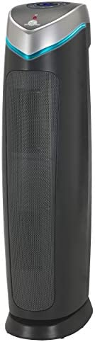 GermGuardian True HEPA Filter Air Purifier, UV Light Sanitizer, Eliminates Germs, Filters Allergies, Pets, Pollen, Smoke, Dust, Mold, Odors, Quiet 28 inch, 5-in-1 Air Purifier for Home, Charcoal Grey