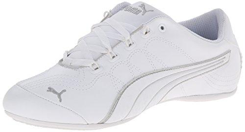 PUMA Women's Soleil V2 Comfort Fun Classic Sneaker, White/Puma Silver, 8.5 B US