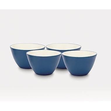 Noritake 4-Inch Colorwave Bowl, Blue, Set of 4