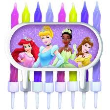 Disneys Princess Cake Decorations with Candles