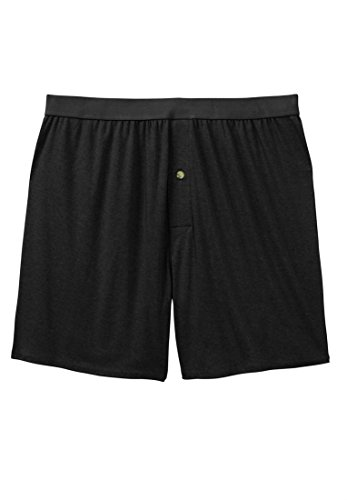 Kings' Court Men's Big & Tall Fashion Open Boxers, Black - Of The King Court