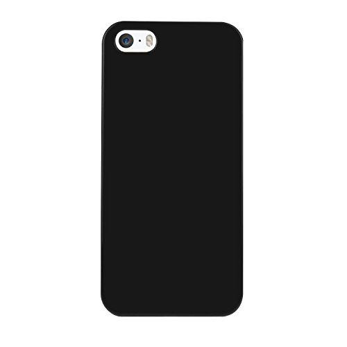 Bingsale TPU Jelly snap on Gel Soft Hülle Case Tasche schutzhülle für Apple iPhone SE 5S 5 in Schwarz (iPhone 5S, schwarz)