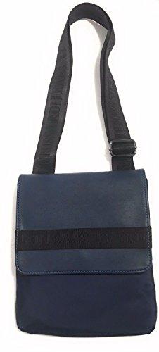 Trussardi Jeans - Bolso de asas para hombre azul turquesa