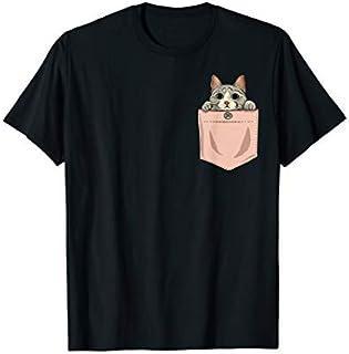 Cat in Pocket Kawaii Cute Anime Cats Lover Women, Girls T-shirt | Size S - 5XL