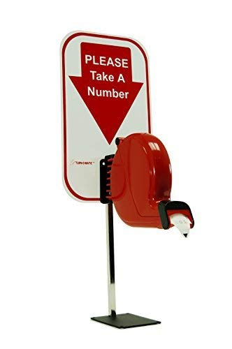Microframe Take-A-Number System Ticket Dispenser with Free Ticket Roll by Microframe Corporation