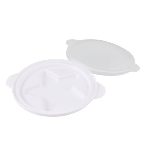 Pentagram Microwave Steamed Steaming Egg Tray Eggs Poacher White