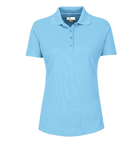 Greg Norman Womens Protek Pique Polo Light Blue XL