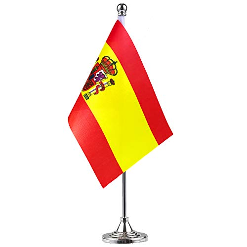 GentleGirl Spain Flag Spanish Flag Table Flag,Desk Flag,Office Flag,International World Country Flags Banners,Festival Events Celebration,Office Decoration,Desk,Home Decoration]()