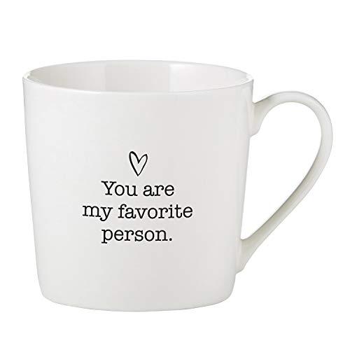 SB Design Studio D4454 Sips Bone China Cafe Mug/Coffee Cup, 14-Ounce, Favorite Person