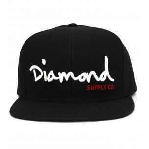 Image Unavailable. Image not available for. Colour  DIAMOND SUPPLY Cap black  White Script-black Color. Diamond Supply Co 32745bf6a155