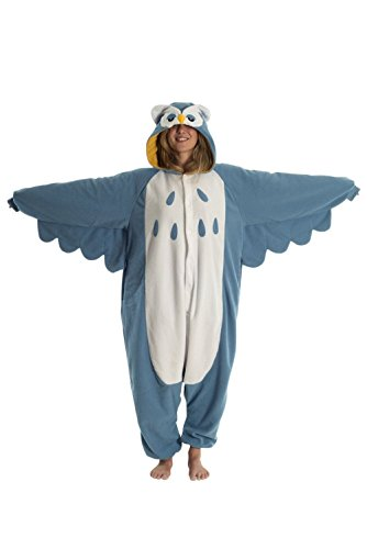 [LATH.PIN Unisex Costume Animal Cosplay Onesie Adult Pajamas Anime Cartoon Sleepwear Owl XL] (Mens Owl Costumes)