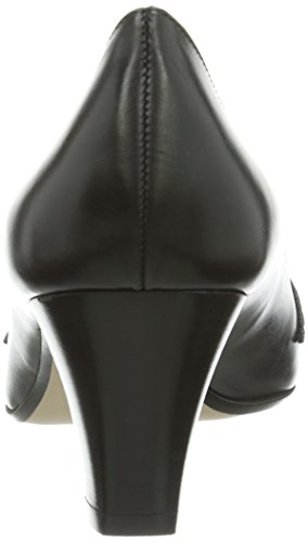 Shoes Vestir Geschlossen Cuero Negro Mujer Pumps Para Evita De Zapatos ZxdZS