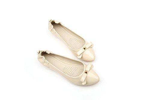 GAOLIM Planos Boca Zapatos Mujeres Zapatos Rojos Solo Las Embarazadas Verano Tortillas De Soja Zapata Chicas Las Pálido Femeninos Para Zapatos De Torta Zapatos Zapatos Consejos Beige2 FzvrqF