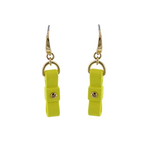 MARC BY MARC JACOBS Upright Safety Yellow Bow Tie Drop Earrings