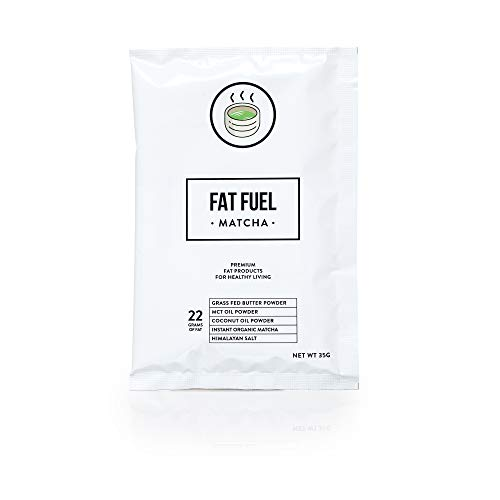 Fat Fuel Company Keto Matcha Green Tea Powder | MCT, Coconut Oil, Himalayan Salt & Grass-Fed Butter | Organic Ingredients | Energy, Focus , Detox | Perfect Drink For Low-Carb Diet | 15 Packets by The Fat Fuel Company (Image #6)