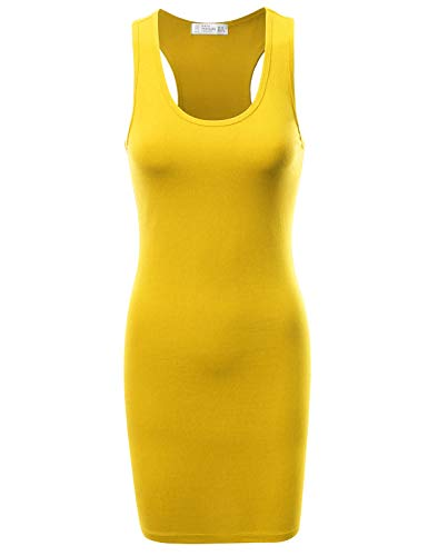 Fifth Parallel Threads FPT Women's Racerback Tank Dress Yellow M