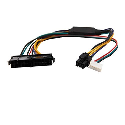 WYMECT 24-Pin to 6-Pin PCI-E PSU ATX Main Power Adapter Cable 18AWG for HP Z220/Z230 Workstation 30cm
