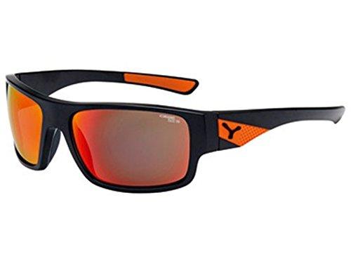 Cebe Matte Black Orange Whisper Wrap Sunglasses Lens Category 3 Lens Mirrored