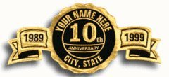 EGP Round Personalized Anniversary Seals, Roll of
