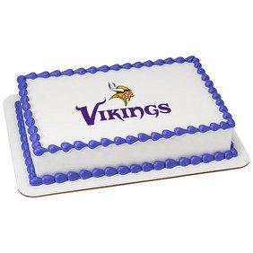 Minnesota Vikings Licensed Edible Cake Topper #35399
