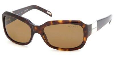Ralph RA5049 Sunglasses-510/83 Dark Tortoise (Polarized Brown - Lauren Warranty Ralph Sunglasses