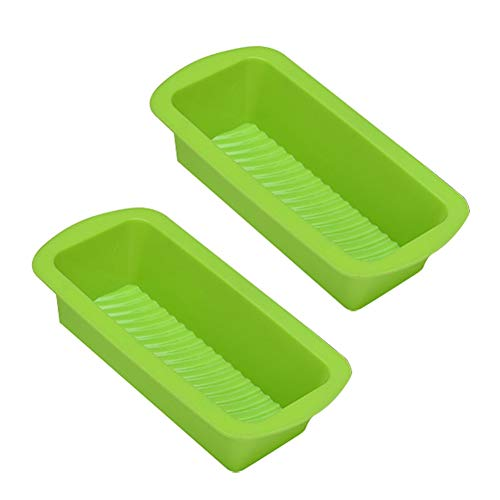 (1 piece 2 Pcs Cake Nonstick Bread Mould Silicone DIY Rectangle Oven Trays Loaf)