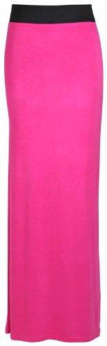 Purple Hanger Women's Straight Gypsy Elastic Full Skirt Cerise 8-10