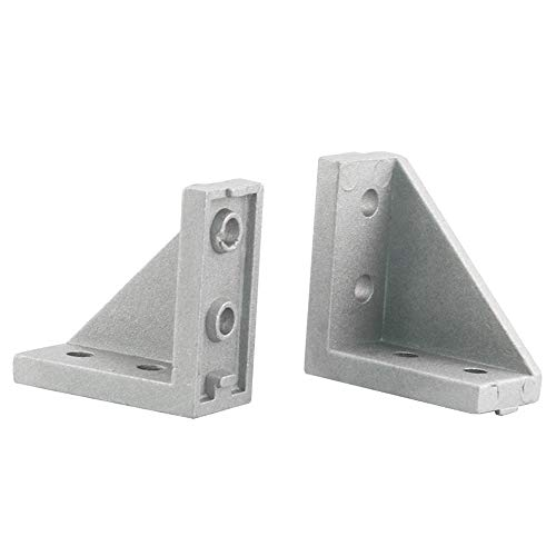 Boeray 10pcs 2040 Corner Bracket Gusset for 2020 Series Aluminum Extrusion Profile with Slot 6mm