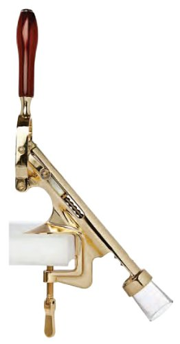 Bar-Pull Counter Mount Wine Bottle Cork Remover Machine, Brass ()
