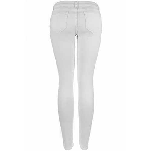 85%OFF 2LUV Women&39s Stretchy 5 Pocket Skinny Jeans White 9