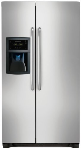 23 Cu. Ft. Counter-Depth Side-by-Side Refrigerator - Stainless Steel