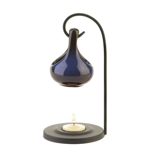 elegant-blue-porcelain-tear-drop-metal-stand-tea-light-oil-warmer