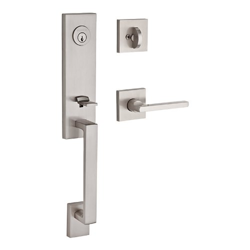 Satin Chrome Entrance Handlesets - 4