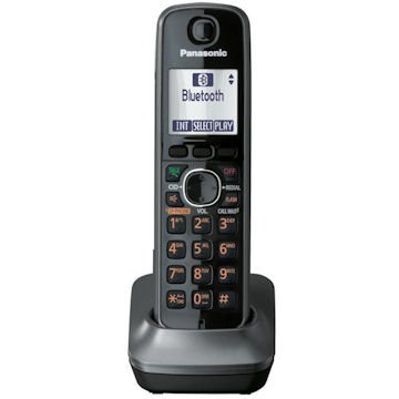 Panasonic DECT 6.0 Accessory Handset with Caller ID for KX-TG4132M, KX-TG4133M, KX-TG4134M, KX-TG4132N, KX-TG4133N, KX-TG4134N, KX-TG6591T, KX-TG6592T, KX-TG6632B, KX-TG6633B, KX-TG6641B, KX-TG6643B, KX-TG6644B, KX-TG6645B, KX-TG7622B, KX-TG7623B, KX-TG7642M, KX-TG7643M, KX-TG7644M, KX-TG7645M – Metallic Gray, Office Central