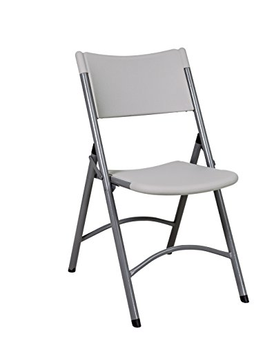Office Star Resin Multi-Purpose Sqaured Folding Chair with G