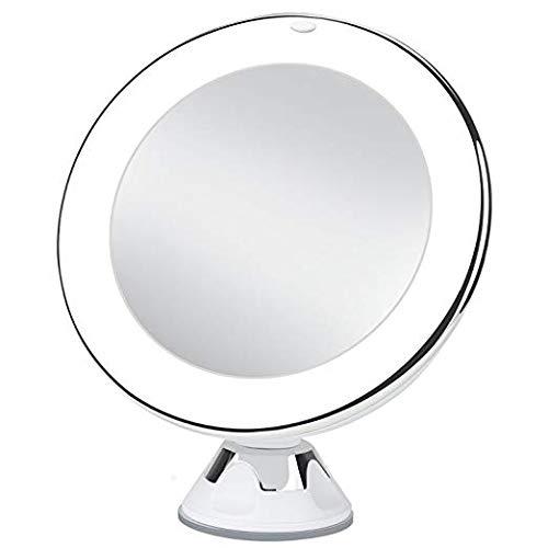 Uarzt Magnifying Lighted Makeup Mirror Chrome 10x