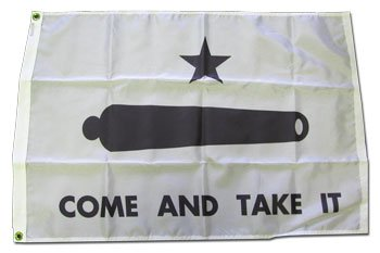 Come and Take It - 2 ft x 3 ft Nylon Historic Flag (Best Weapons For Civil Unrest)