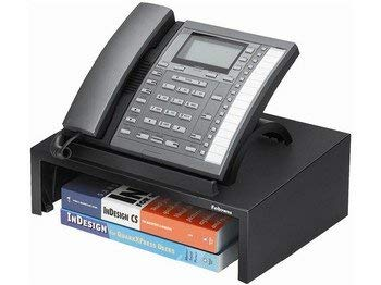 Fellowes 8038601 THE FELLOWES DESIGNER SUITES PHONE STAND HAS AN ANGLED SURFACE TO KEEP YOUR PHON