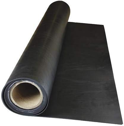 36x25 ft Black 70A 1//8 Comm Grade Neoprene Rubber Roll